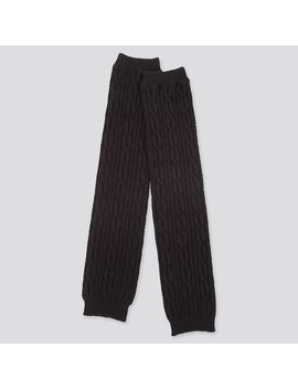 Women Heattech Cable Knitted Leg Warmers by Uniqlo