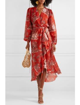 Cuando El Rio Suena Printed Cotton Voile Wrap Dress by Johanna Ortiz