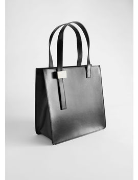 Structured Leather Tote Bag by & Other Stories