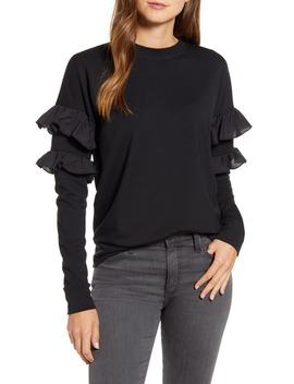 Ruffle Sweatshirt by Rachel Parcell