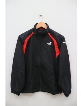 Vintage Puma Small Logo Small Spell Sportswear Black Zipper Windbreaker Jacket Size Xs by Etsy