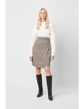 Amati Check Wrap Skirt by French Connection