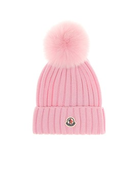 Fur Trimmed Beanie by Moncler