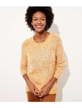 Petite Marled Hi Lo Hem Sweater by Loft