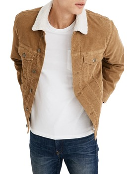 Fleece Lined Classic Jean Jacket Corduroy Edition by Madewell