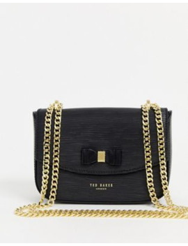 Ted Baker Diassy Bow Detail Leather Across Body Bag by Ted Baker