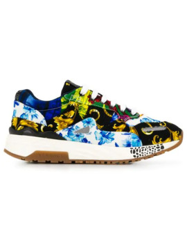 Barocco Print Mix Achilles Sneakers by Versace