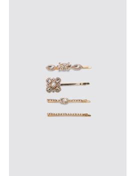 Confezione Di Fermagli Con Strass by Zara