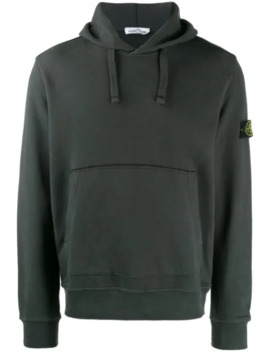Hoodie With Logo Patch by Stone Island
