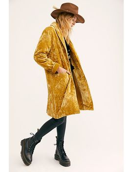 Heart's Desire Velvet Quilted Duster by We The Free