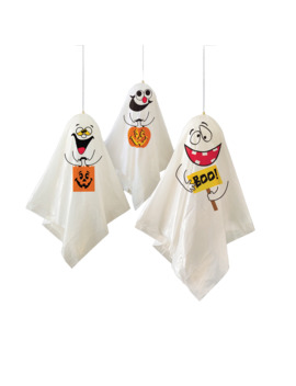 Hanging Ghosts Halloween Decorations, 3ct by Unique