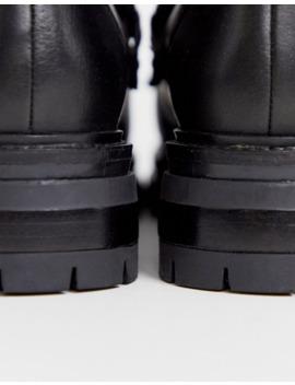 Asos Design   Artistry   Bottes Style Randonnée En Cuir De Qualité Supérieure   Noir by Asos Design