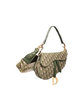 Dior Saddle Bag Oblique Gold Tone Green by Stock X