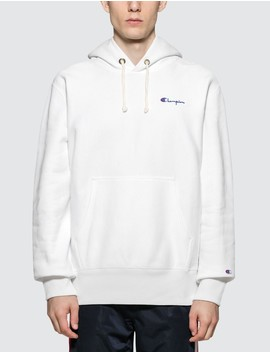 Small Script Logo Hoodie by Champion Reverse Weave