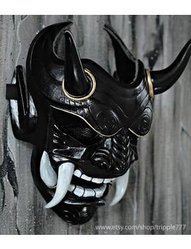 Samurai Assassin Demon Oni Bb Gun Airsoft Mask, Halloween Costume Cosplay Ninja Warrior Devil Evil Hannya Kabuki Home Decor Wall Mask Da06 by Etsy