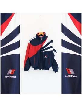 Vintage New Balance Jacket 80s Windbreaker Mens Xs 90s Windbreaker Color Block Windbreaker Jacket Womens S Colorblock Jacket New Balance Top by Etsy
