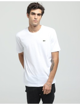 Lacoste Basic Crew Neck Sport Tee White by Lacoste