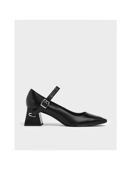 Flare Block Heel Mary Jane Court Shoes  Flare Block Heel Mary Jane Court Shoes by Charles & Keith