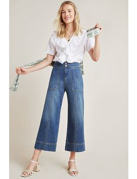 Pilcro Ultra High Rise Wide Leg Cropped Jeans by Pilcro And The Letterpress