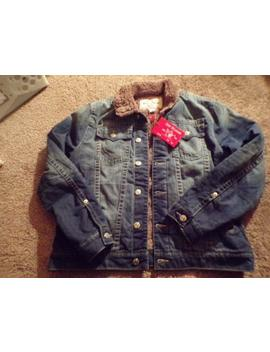 New Mens True Religion Sherpa Lined Blue Jean Trucker Jacket Size L R141 F1 by True Religion
