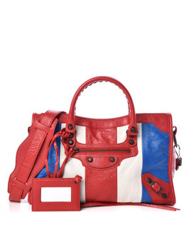 Balenciaga Agneau Aj Striped Classic City S Red Blanc Blue by Balenciaga