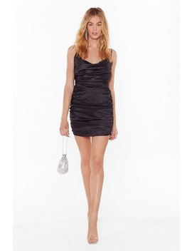 Toxic Cowl Ruched Mini Dress by Nasty Gal