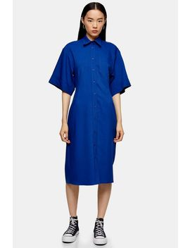 **Cobalt Blue Bowling Sleeve Dress By Topshop Boutique by Topshop