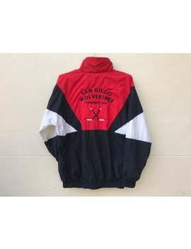 San Diego Wolverines Windbreaker, San Diego Wolverines Tournament Team, Sportswear, Hockey Team, Vintage Multicolor Jacket (Size M) by Etsy