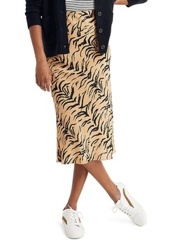 Tiger Stripe Silk Midi Slip Skirt by Madewell