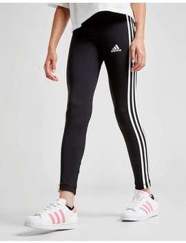 Adidas Girls' Training 3 Stripes Leggings Junior by Jd Sports