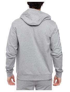 Felpa Zip Hood 3 Gpm24 Pj05 Z Medium Grey Mel by Ea7