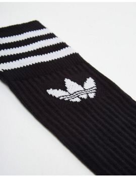 Adidas Originals 3 Pack Black Socks by Adidas Originals