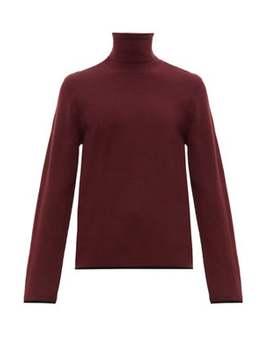 Tipped Trim Merino Wool Roll Neck Sweater by Joseph