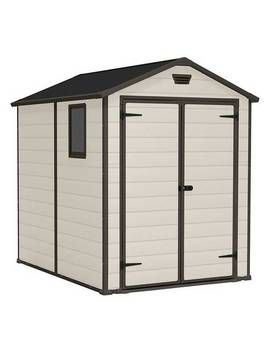 Keter Manor Apex Garden Storage Shed 6 X 8ft – Beige/Brown619/4460 by Argos