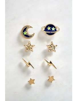 Celestial Stud Earrings Pack by Urban Outfitters