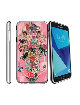 Case For Samsung Galaxy J7 Pro | Sky Pro Cover | J7 Sm J720 2017 Case [ Flex Force ] Flexible Clear Case Skull Collection by Miniturtle