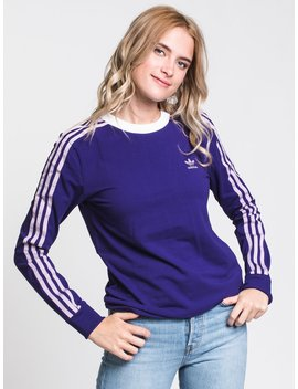 Womens 3 Str Long Sleeve Tee   Purple by Adidasadidas