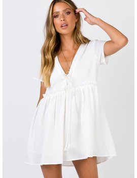Maritimo Mini Dress White by Princess Polly
