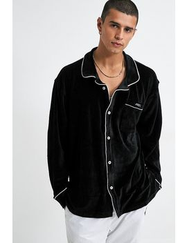 Obey Tenderly Velour Long Sleeve Shirt by Obey