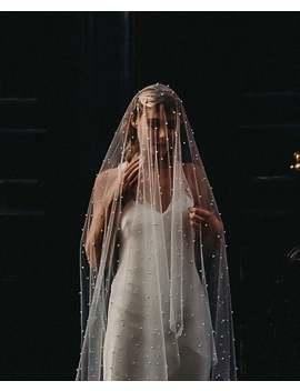 Soft Tulle Veil With Pearls, Silky Veil With Pearl Embroidery, Ballet Veil,  Waitz Veil, Chapel Veil, Cathedral Veil, Waltz Veil,  Boho Veil by Etsy