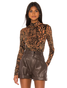 The Zelie Bodysuit In Jungle Animal by L'academie