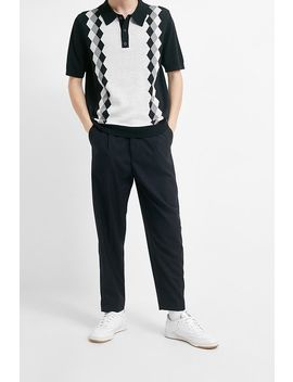 Uo Navy Drawstring Tailored Trousers by Urban Outfitters