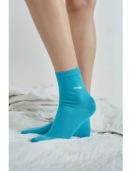 Dreamy Embroidered Crew Socks by Urban Outfitters