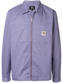 Logo Patch Shirt Jacket by Stussy