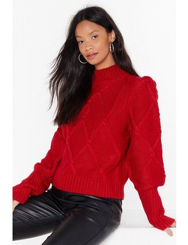 Sleeve The Lights On Cable Knit Sweater by Nasty Gal