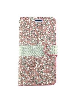Samsung Galaxy J7 2018 Case J7 Refine Case J7 V 2nd Generation Case By Insten Folio Flip Leather Rhinestone Diamond Bling Case Cover For Samsung Galaxy J7 (2018)/J7 Refine/J7 Star/J7 V 2nd Gen (2018) by Insten