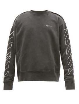 Sketch Logo Jersey Sweatshirt by Off White
