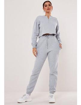 Black Ribbed Oversized 90s Joggers by Missguided