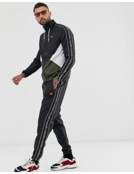 Ellesse Bandino Track Pants With Taping In Black by Ellesse