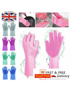 <Span><Span>Magic Silicone Rubber Dish Washing Up Gloves Brush Scrubber Cleaning Scrubbing</Span></Span> by Ebay Seller